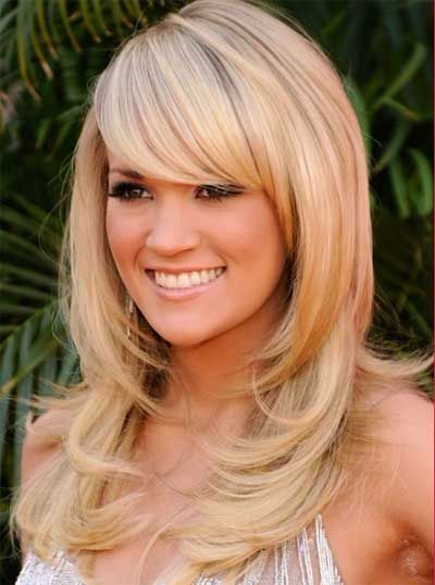 side swept long hairstyles for oval face Long Layered Hairstyles For Round Faces