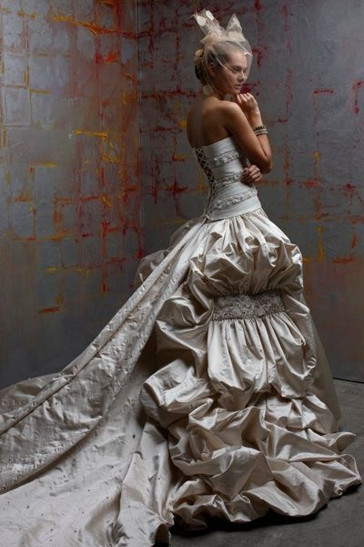 Luxurious Duchess satin ball from St. Pucchi, what a beautiful dress ladies!!!
