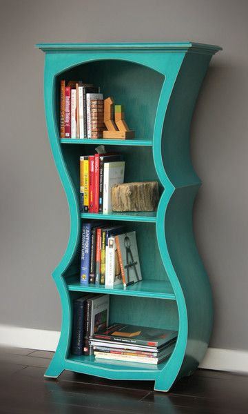 This would be GREAT for an alice in wonderland themed room... or nursery Curved Bookcase - Abstract, modern art furniture by Dust Furniture*