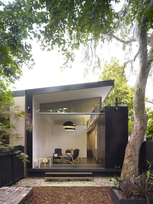 although a contemporary home, there is something mid century about this-a modern version of it