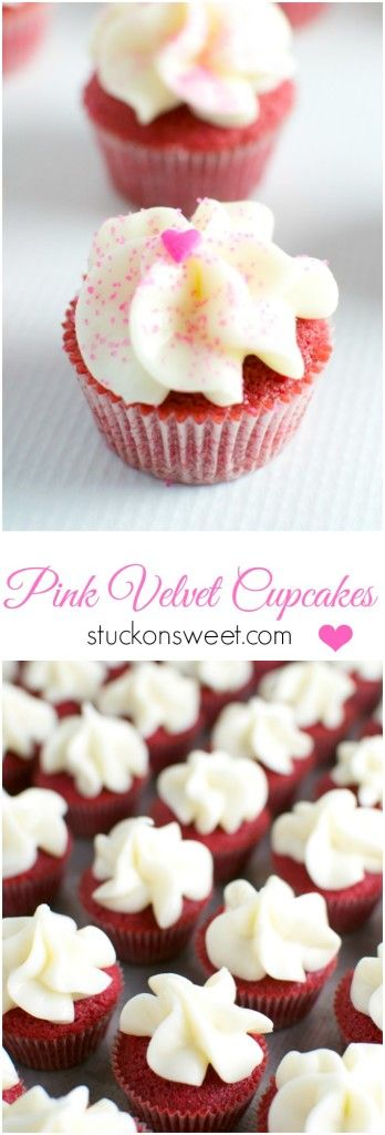 Pink Velvet Cupcakes - Cook for the Cure and Breast Cancer Awareness! | stuckonsweet.com #10000cupcakes #donate @KitchenAidUSA