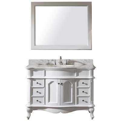 Pics On Best Deal Virtu USA Transitional Single Sink Bathroom Vanity Set White u