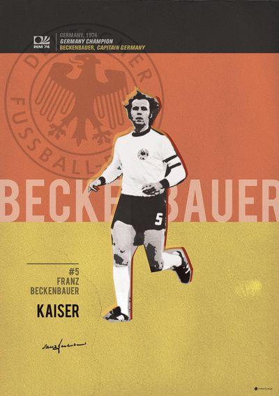 #5 Beckenbauer // World Cup • Football Stars Art Print