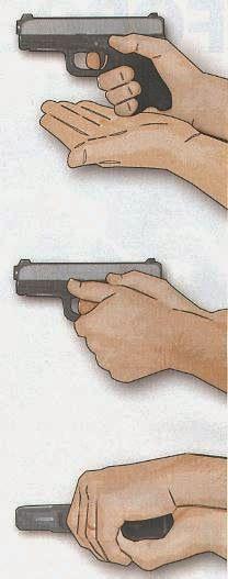 Handgun Combatives: Get a Grip: Proper combative pistol control