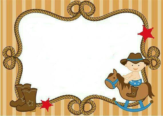 Cowboy baby shower printable