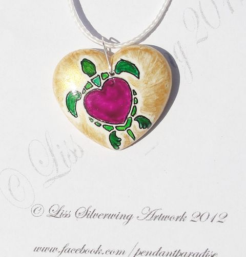 'Purple heart turtle pendant ' is going up for auction at 11pm Fri, Nov 16 with a starting bid of $15.