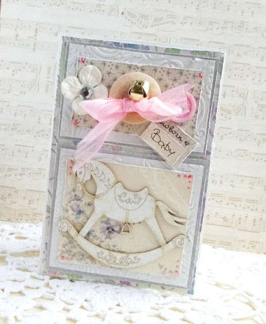 Shabby card using Scrapmatts chipboard and paper by Pion Designs