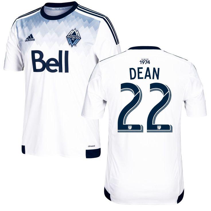 Christian Dean 22 Vancouver Whitecaps FC 2016/17 Home Soccer Jersey Deep Sea White