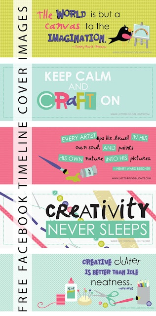 cute, crafty freebie timeline cover images for facebook