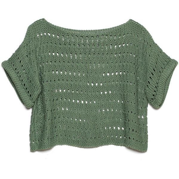 DIANA SWEATER ($98) ❤ liked on Polyvore featuring tops, sweaters, shirts, crop tops, crop shirts, green top, green sweater, shirt crop top and cropped sweater