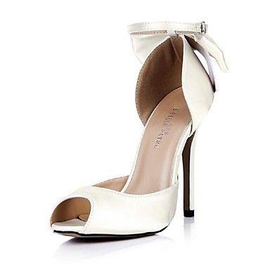 Satijn Dames naaldhak Peed sandalen Schoenen met strik - EUR € 49.00