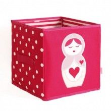 This cute collapsible storage box is a perfect storage solution for the baby's nursery or child's bedroom. Now there is somewhere fun and decorative to place all of their toys, clothes and essentials.  Whether it's out on show or in a cupboard this sturdy canvas box will make any room organised. Featuring two handles on the side so it can be easily carried around the house or alternatively folded flat and stored when not in use.   Size: 30cm W x 30cm D x 30cm H