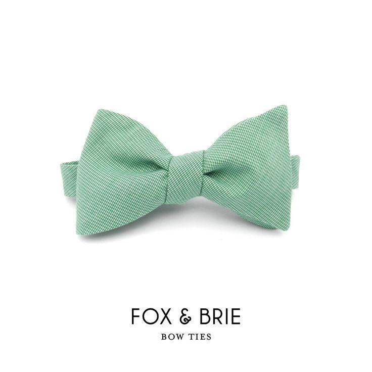 Fox & Brie — Emerald Bow Tie