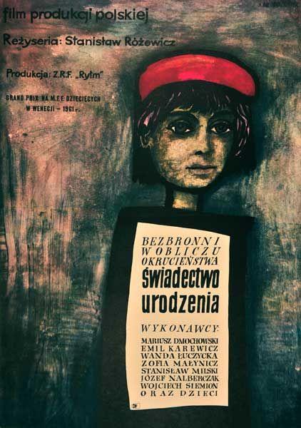 Plakaty / Jan Młodożeniec, Świadectwo urodzeni, 1961