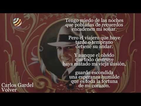 Carlos Gardel - Volver (Lyric video) [HQ] - YouTube