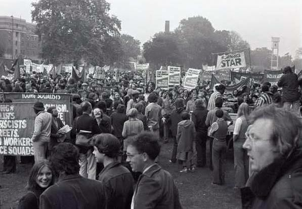 A Demonstration near Clifton Rise Deptford South East London England in 1978