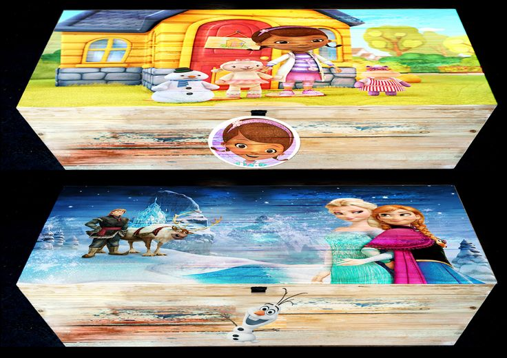 plain wood, painted or any graphic can be applied to the kiddies trunks/kists - R2600  -  size = 70cm x 45cm x 42cm or R3500 - size = 1.35m x 45cm x 53cm
