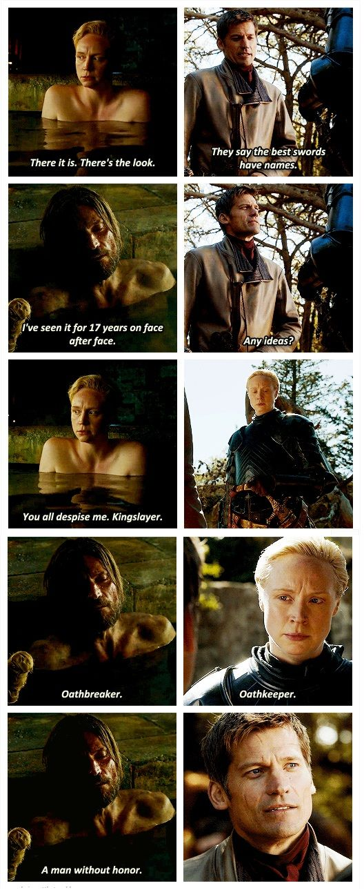Jamie & Brienne. Best friends forever