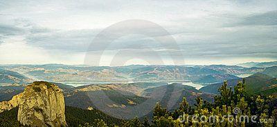Beautiful panorama of Ceahlau mountains - ROMANIA