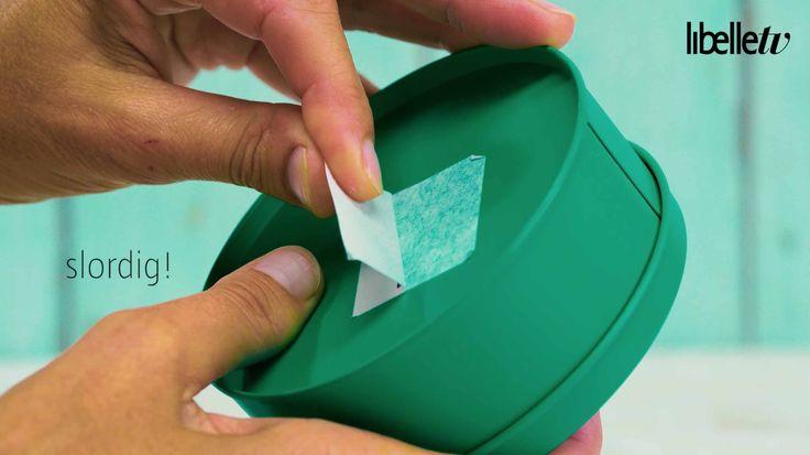 Stickers verwijderen van nieuw gekochte producten doe je niet zomaar. Vaak blijven er plakresten achter. Met deze lifehack niet meer!