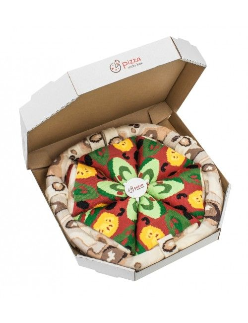 4 pairs of pizza socks with vegetarian ingredients such as cucumber abd  zucchini! Unusual gift idea!