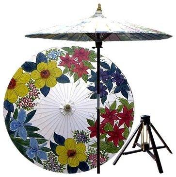 7 ft. Tall Eastern Bouquet Patio Umbrella w B - contemporary - Outdoor Umbrellas - ivgStores