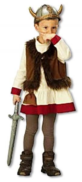Wikinger Kostüm für Kinder - Als Wikingerin den Kinderfasching erobern #kostum #costume