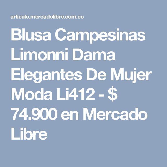 Blusa Campesinas Limonni Dama Elegantes De Mujer Moda Li412 - $ 74.900 en Mercado Libre