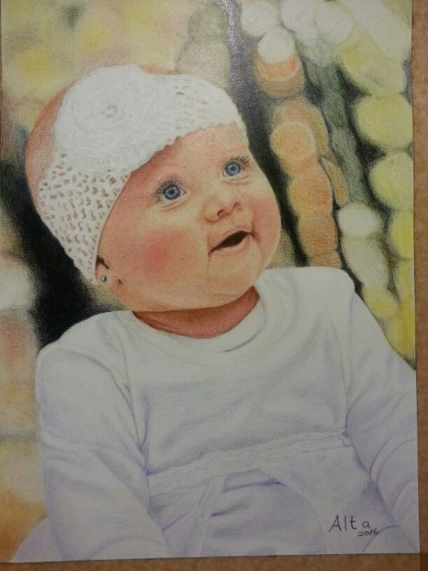 Brooke. Portrait in Polychromos pencils.