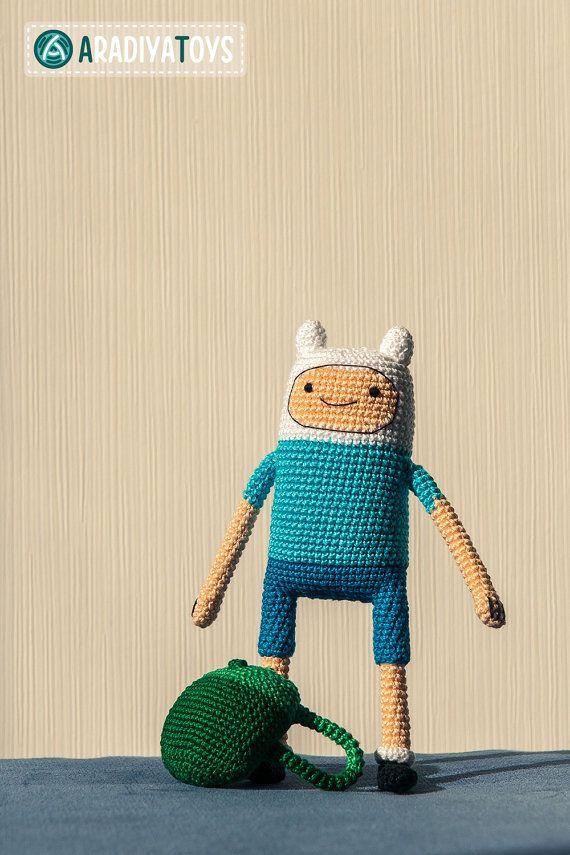 Crochet Pattern of Finn from Adventure Time Amigurumi by Aradiya