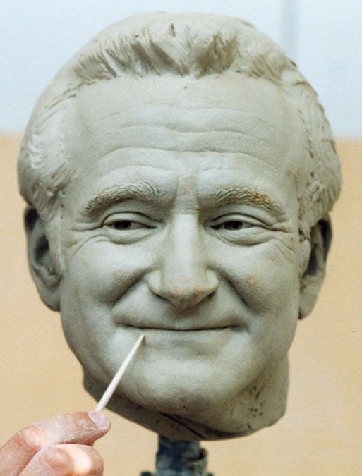 Robin williams sculpture escultura pinterest search