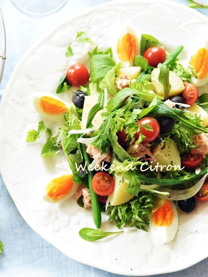 おもてなしにも 褒められ ごちそうサラダ のレシピ集 キナリノ 料理 レシピ ニース風サラダ レシピ