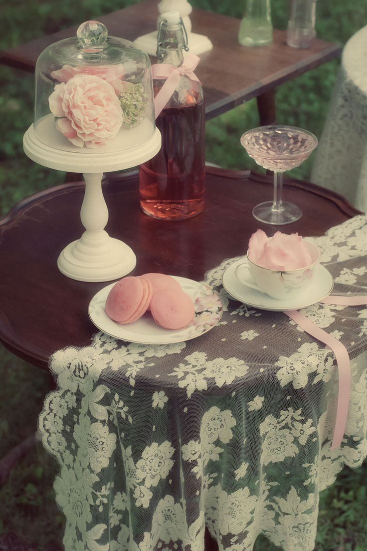 Southern Heirloom Garden Soiree #desserttable #party #ruffled #lace #cake #southern #wedding #shabbychic #peony #teaparty #strawberry #cottoncandy