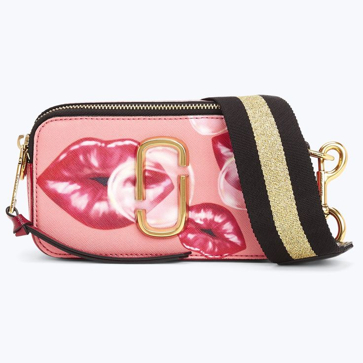 MARC JACOBS Printed Lips Snapshot Small Camera Bag. #marcjacobs #bags #shoulder bags #