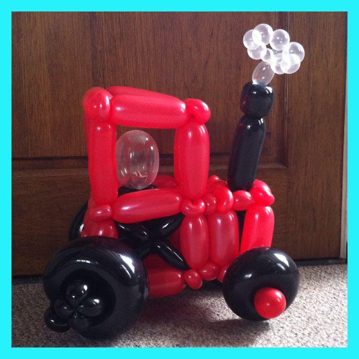 Rode ballonnentractor