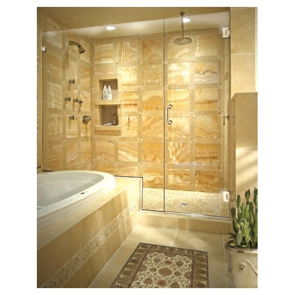 LUV THIS SHOWER!! onyx tile layout