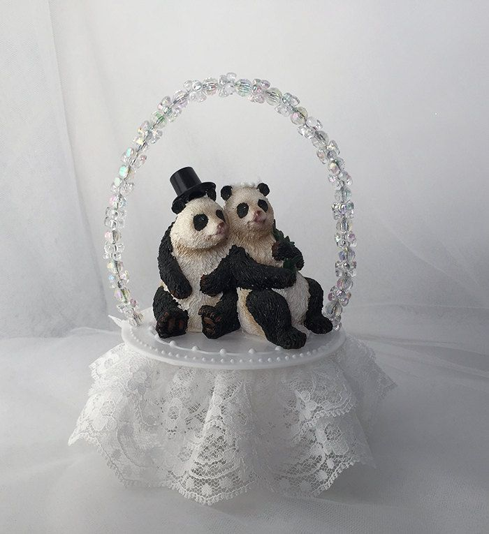 Animal Wedding Cake Topper- Bear Wedding cake topper-Bride and Groom- Animal Lover -Wedding Keepsake- Cute Wedding Cake Topper- Wedding gift by UniqueWeddinCreation on Etsy
