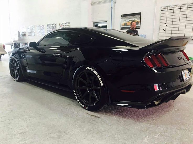 """Mario Melgar's """"Black Mare"""" S550 Mustang GT is boasting a ton of mods, but our favorite has to be the twin Precision turbos at 18.5 lbs of boost. His car is putting down 860 RWHP on race fuel!"""