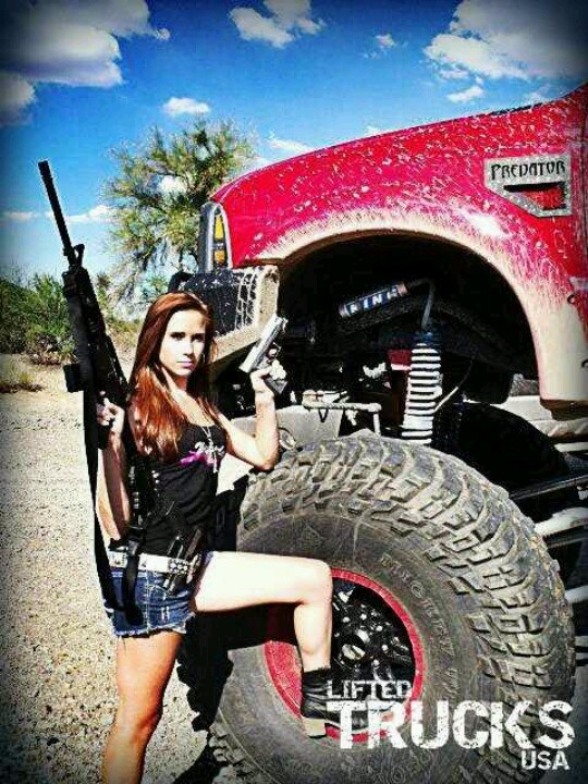 Girl,guns, big truck heck yes; senior pictures idea!!!!