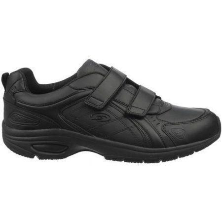 Dr. Scholl\u0027s Men\u0027s Dash Double Velcro Work Shoe, Size: 10.50, Black