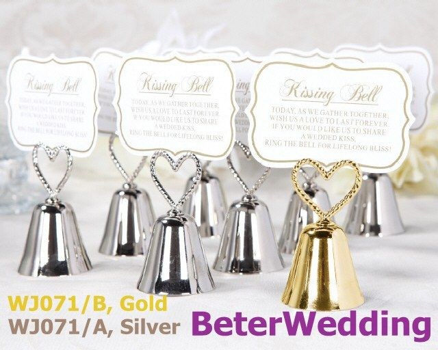 48pcs charming bells wedding place card holders wj071 party event gift
