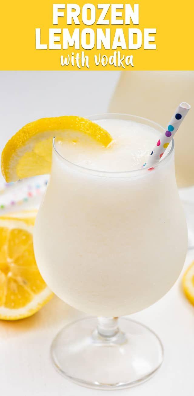 Boozy Frozen Lemonade wird mit Wodka oder Rum für die beste Sommercocktailempfehlung … – Beverages