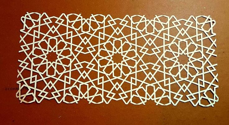 10-fold ;  Mohamed S. Ahmed  - Paper Cutting  Original pattern from Egypt .....Mamluk  from 15th century Cairo.