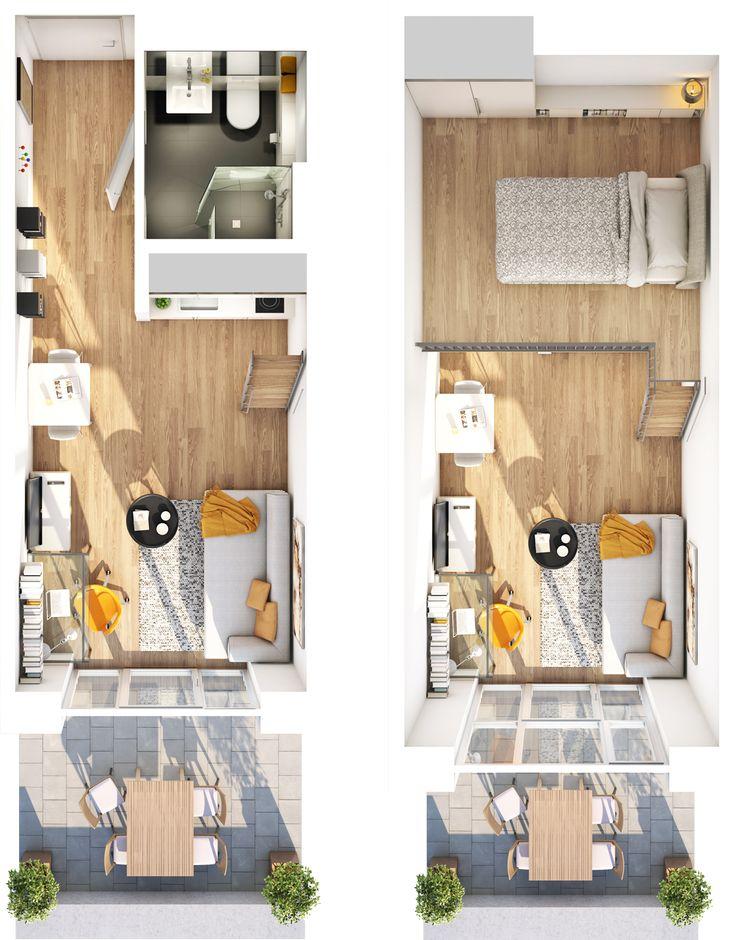 """Beispiel Grundriss Apartment-Studio """"I"""""""