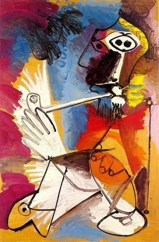 Pablo Picasso. Le fumeur. 1969 year