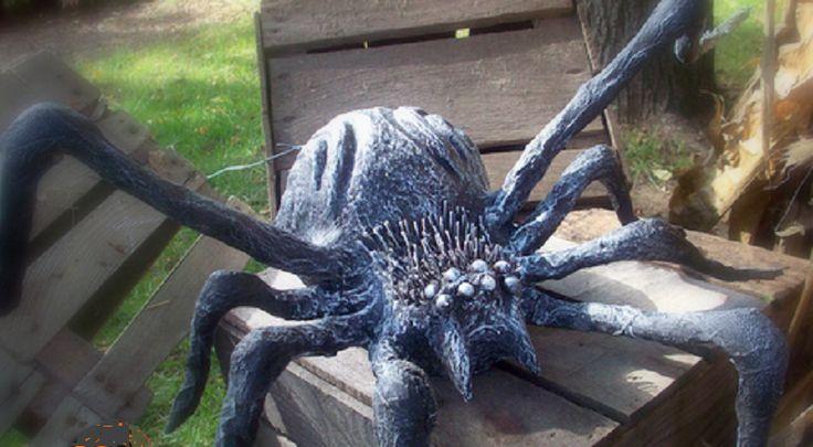 Bricoler une grosse araignée pour l'Halloween!