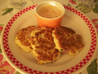 Cook with Sara: Shrimp and Goat Cheese Corn Cakes