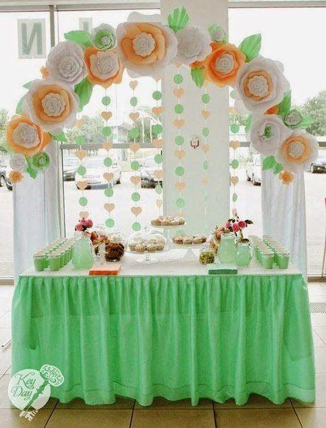 25+ melhores ideias sobre Guirlandas De Flores De Papel no Pinterest Flores de papel  -> Decoração De Aniversário Com Flores Gigantes
