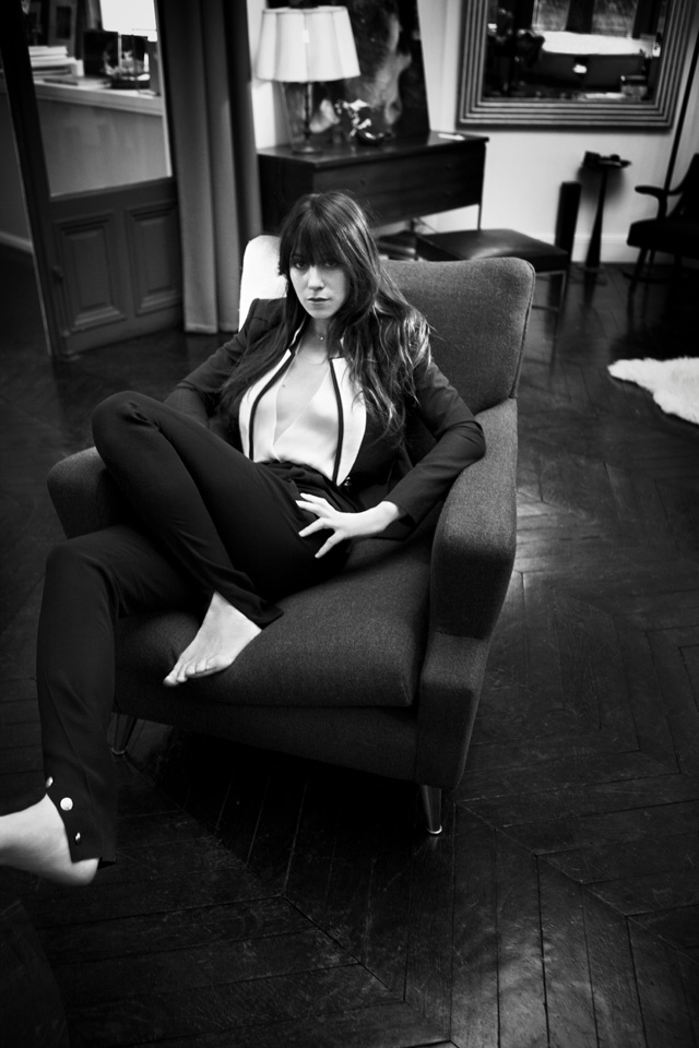 charlotte gainsbourg in oyster magazine.