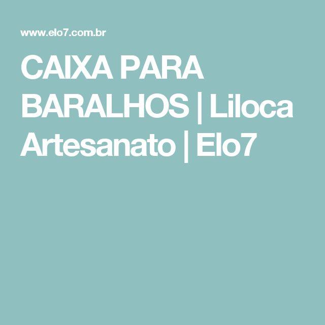 CAIXA PARA BARALHOS | Liloca Artesanato | Elo7